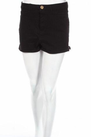 Дамски къс панталон River Island, Размер M, Цвят Черен, 96% памук, 4% еластан, Цена 16,54лв.