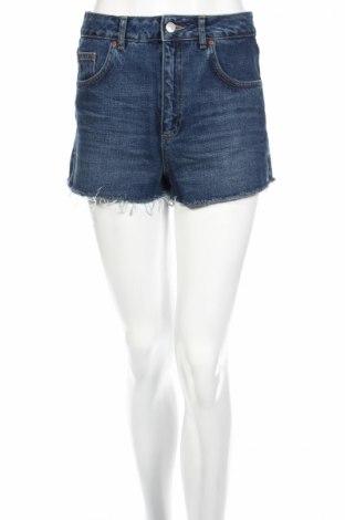 Дамски къс панталон Topshop, Размер M, Цвят Син, Памук, Цена 15,12лв.