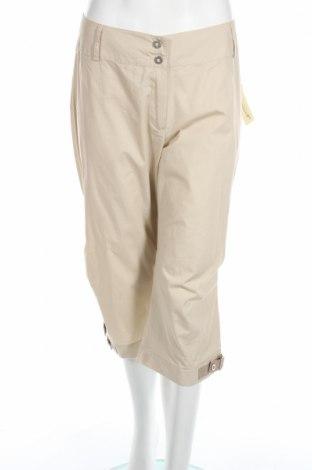 Дамски панталон Authentic Clothing, Размер L, Цвят Бежов, Памук, Цена 8,27лв.