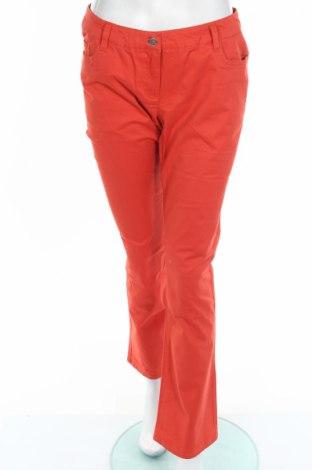 Дамски панталон Bpc Bonprix Collection, Размер M, Цвят Оранжев, 97% памук, 3% еластан, Цена 37,80лв.