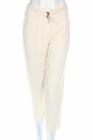 Дамски панталон Un Jour Ailleurs, Размер L, Цвят Екрю, 56% лен, 44% полиестер, Цена 12,08лв.