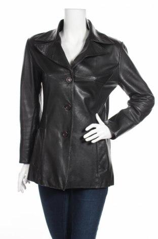 Γυναικείο δερμάτινο μπουφάν, Μέγεθος M, Χρώμα Μαύρο, Γνήσιο δέρμα, Τιμή 10,83€
