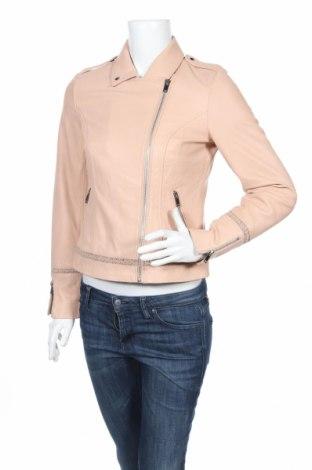 Dámska kožená bunda  Naf Naf, Veľkosť M, Farba Béžová, Pravá koža , Cena  74,78€