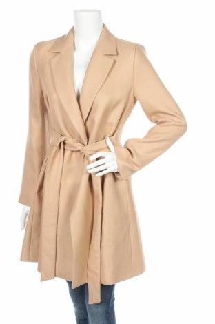 Дамско палто Naf Naf, Размер S, Цвят Бежов, 67% полиестер, 33% вискоза, Цена 89,50лв.