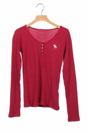 Детска блуза Abercrombie Kids, Размер 11-12y/ 152-158 см, Цвят Розов, 52% вискоза, 44% полиестер, 4% еластан, Цена 23,52лв.