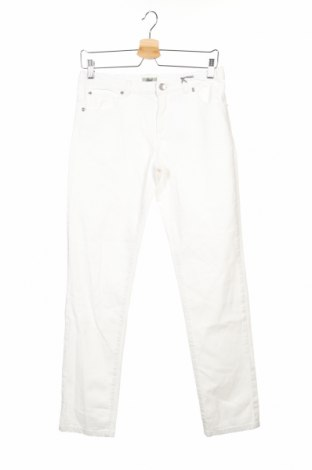 Детски дънки Grant, Размер 13-14y/ 164-168 см, Цвят Бял, 98% памук, 2% еластан, Цена 8,84лв.