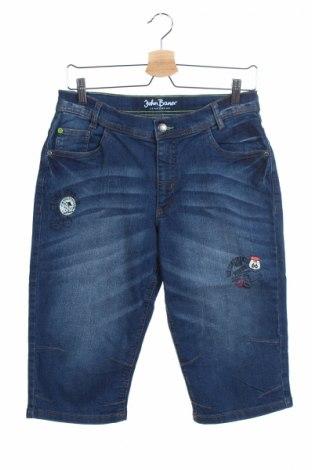 Παιδικό κοντό παντελόνι John Baner, Μέγεθος 15-18y/ 170-176 εκ., Χρώμα Μπλέ, 82% βαμβάκι, 17% πολυεστέρας, 1% ελαστάνη, Τιμή 7,42€