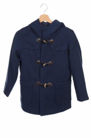 Детско палто United Colors Of Benetton, Размер 8-9y/ 134-140 см, Цвят Син, 88% полиестер, 10% вискоза, 2% еластан, Цена 66,24лв.