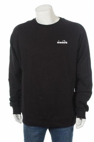 Bluză de bărbați Diadora, Mărime XXL, Culoare Negru, 80% bumbac, 20% poliester, Preț 63,95 Lei