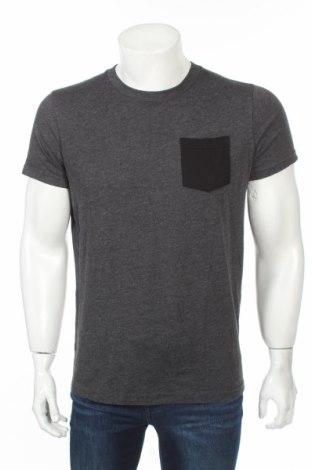 Мъжка тениска Abercrombie & Fitch, Размер M, Цвят Сив, 50% памук, 50% полиестер, Цена 22,11лв.