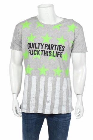Мъжка тениска Alcott, Размер M, Цвят Сив, 90% памук, 10% полиестер, Цена 9,10лв.