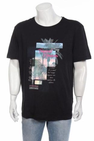 Мъжка тениска Bpc Bonprix Collection, Размер XL, Цвят Черен, Памук, Цена 21,42лв.