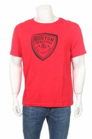 Мъжка тениска Bpc Bonprix Collection, Размер L, Цвят Червен, Памук, Цена 23,80лв.