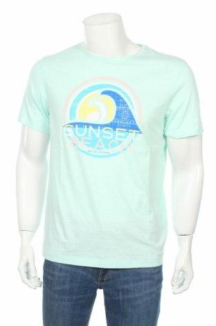 Мъжка тениска Bpc Bonprix Collection, Размер L, Цвят Син, Памук, Цена 22,05лв.
