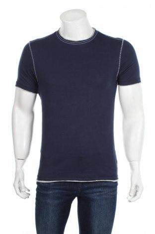Мъжка тениска Bpc Bonprix Collection, Размер S, Цвят Син, Памук, Цена 23,12лв.