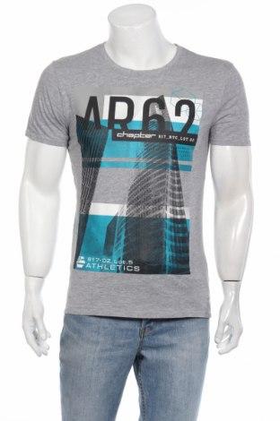 Мъжка тениска Chapter, Размер M, Цвят Сив, 90% памук, 10% вискоза, Цена 11,60лв.