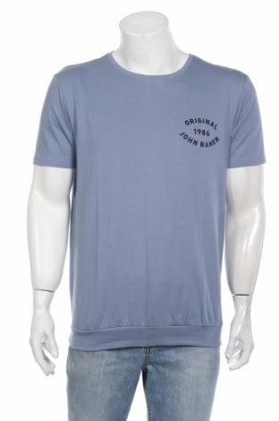 Ανδρικό t-shirt John Baner, Μέγεθος M, Χρώμα Μπλέ, Βαμβάκι, Τιμή 1,81€