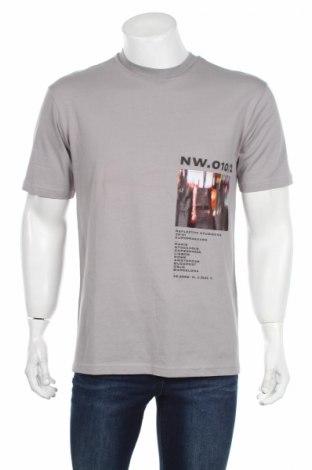Ανδρικό t-shirt Topman, Μέγεθος XS, Χρώμα Γκρί, 100% βαμβάκι, Τιμή 1,96€