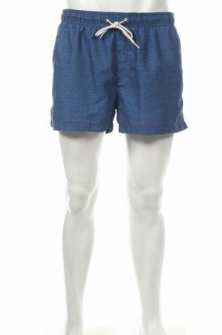 Pantaloni scurți de bărbați H&M, Mărime L, Culoare Albastru, Poliester, Preț 32,33 Lei