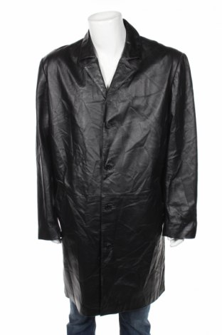 Ανδρική δερμάτινη καμπαρντίνα Jcc, Μέγεθος L, Χρώμα Μαύρο, Γνήσιο δέρμα, Τιμή 14,74€