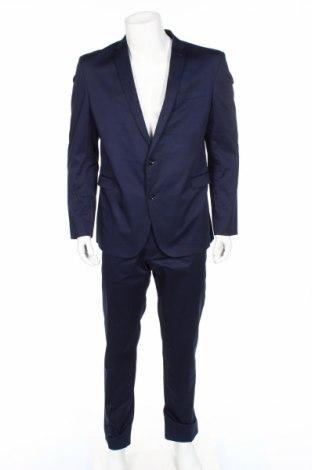 Мъжки костюм Cinque, Размер XL, Цвят Син, 98% памук, 2% еластан, Цена 329,00лв.