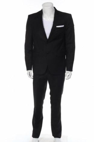 Мъжки костюм Georges Franck, Размер M, Цвят Черен, 70% полиестер, 30% вискоза, Цена 126,75лв.