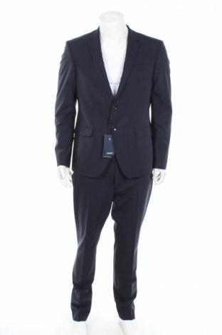 Мъжки костюм Joop!, Размер L, Цвят Син, 85% вълна, 11% полиамид, 4% еластан, Цена 330,72лв.