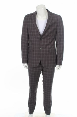 Мъжки костюм Pier One, Размер L, Цвят Сив, 65% полиестер, 33% вискоза, 2% еластан, Цена 103,82лв.