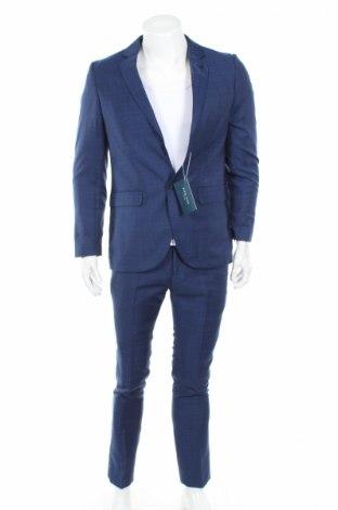 Мъжки костюм Pier One, Размер M, Цвят Син, 82% полиестер, 187% вискоза, Цена 101,40лв.