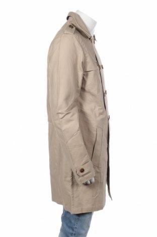 Мъжки шлифер Pier One, Размер L, Цвят Бежов, Памук, Цена 74,25лв.