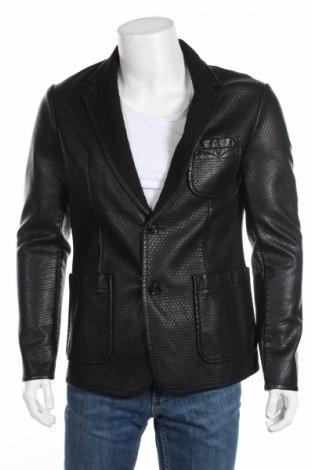 Мъжко кожено сако Gas, Размер L, Цвят Черен, Еко кожа, Цена 44,85лв.