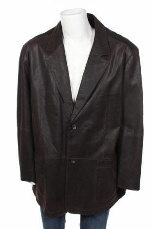 Мъжко кожено яке Angelo Litrico, Размер 4XL, Цвят Кафяв, Естествена кожа, Цена 91,52лв.