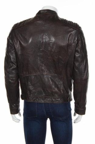 Мъжко кожено яке Gipsy, Размер M, Цвят Кафяв, Естествена кожа, Цена 181,48лв.