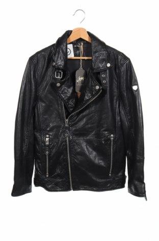 Мъжко кожено яке Gipsy, Размер S, Цвят Черен, Естествена кожа, Цена 150,28лв.