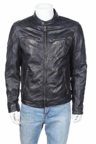 Мъжко кожено яке Gipsy, Размер L, Цвят Син, Естествена кожа, Цена 309,00лв.