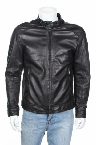 Мъжко кожено яке Joop!, Размер L, Цвят Черен, Естествена кожа, Цена 421,92лв.