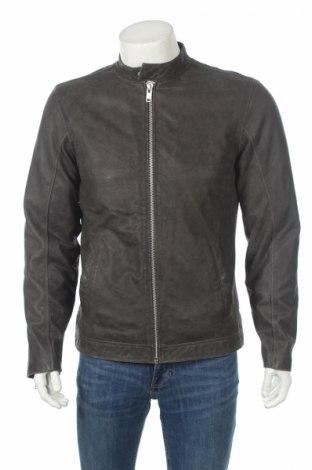Мъжко кожено яке Lindbergh, Размер M, Цвят Сив, Естествена кожа, Цена 171,08лв.