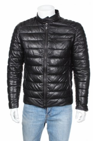 Мъжко кожено яке Save The Duck, Размер L, Цвят Черен, Еко кожа, Цена 175,45лв.