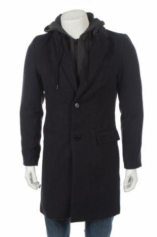 Мъжко палто Tiffosi, Размер M, Цвят Син, 93% полиестер, 5% вискоза, 2% еластан, Цена 85,86лв.