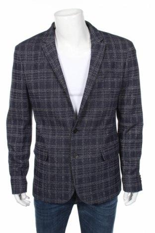 Мъжко сако Burton of London, Размер L, Цвят Син, 80% памук, 20% лен, Цена 131,00лв.