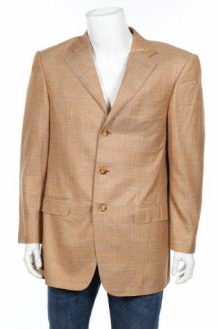 Мъжко сако Ermenegildo Zegna, Размер L, Цвят Бежов, 42% вълна, 41% коприна, 17% лен, Цена 29,90лв.