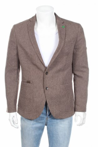 Pánské sako  Montego, Rozměr M, Barva Hnědá, 80% polyester, 20% vlna z alpaky, Cena  500,00Kč