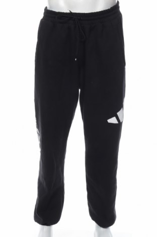 Мъжко спортно долнище Adidas, Размер XL, Цвят Черен, 77% памук, 23% полиестер, Цена 59,25лв.