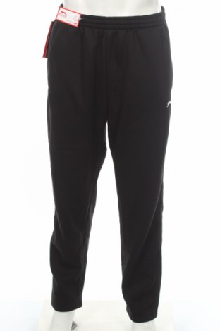 Мъжко спортно долнище Slazenger, Размер XL, Цвят Черен, 65% полиестер, 35% памук, Цена 34,50лв.