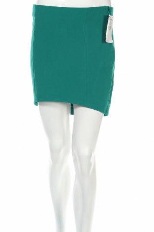 Пола Zara Trafaluc, Размер M, Цвят Зелен, 78% полиестер, 16% вискоза, 6% еластан, Цена 11,25лв.