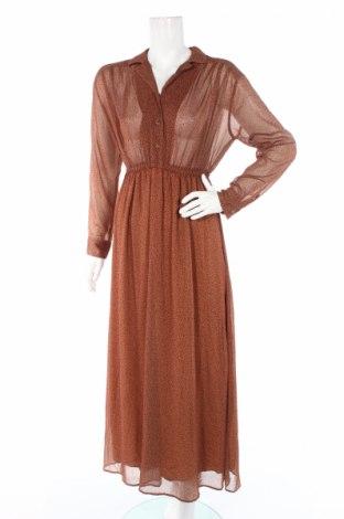Рокля American Vintage, Размер S, Цвят Кафяв, Полиестер, Цена 67,60лв.