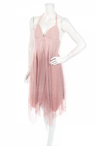 Рокля BCBG Max Azria, Размер S, Цвят Розов, 73% полиамид, 27% памук, Цена 251,65лв.