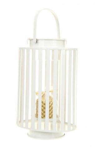 Свещник фенер, Цвят Бял, Метал, Цена 52,54лв.