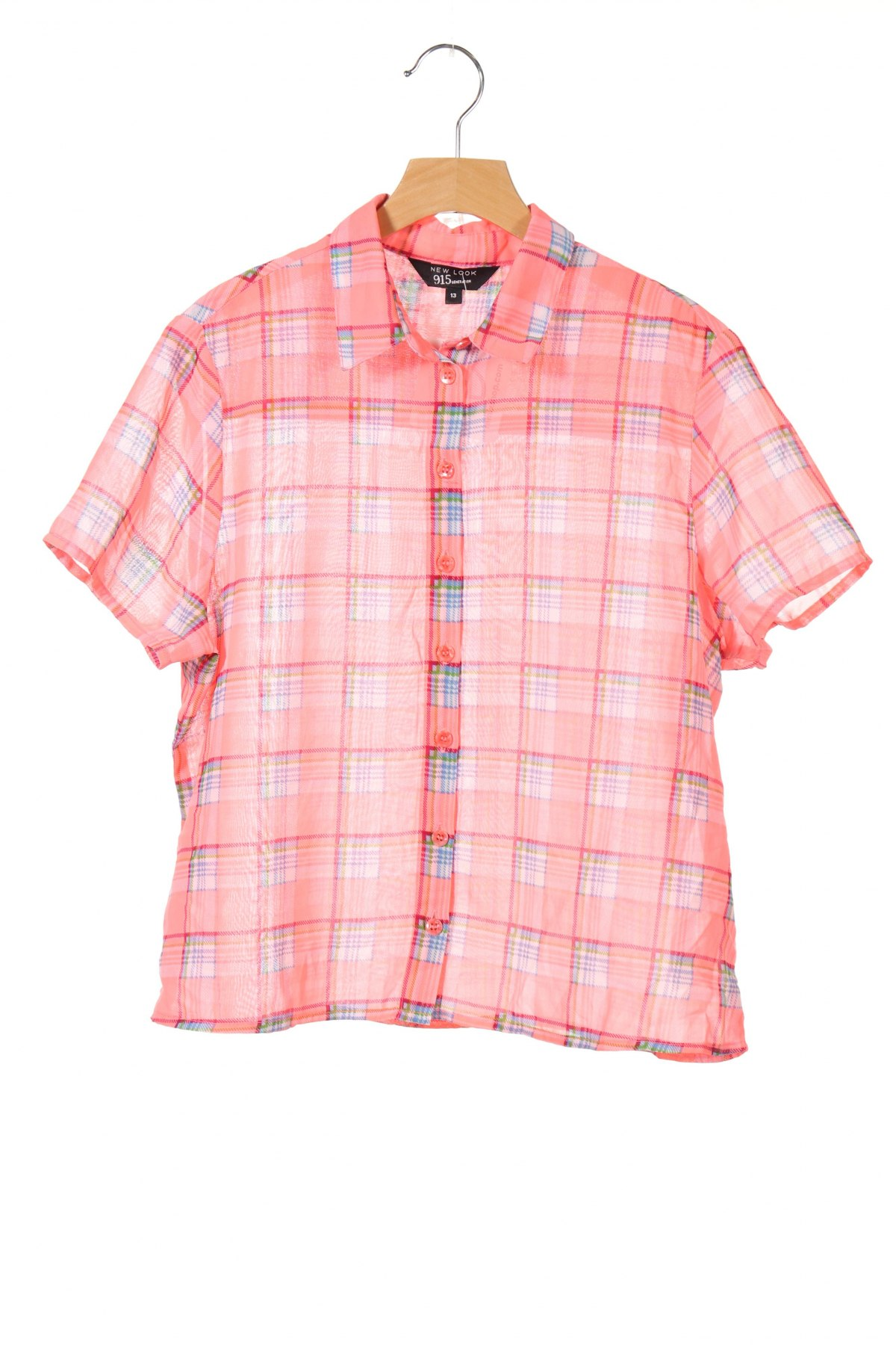 Детска риза New Look, Размер 12-13y/ 158-164 см, Цвят Розов, Полиестер, Цена 2,00лв.