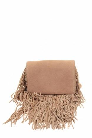 Чанта Zara, Цвят Бежов, Естествен велур, Цена 36,00лв.